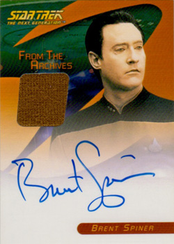 Brent Spiner Autograph/Costume Card