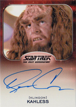 Autograph - Kevin Conway as Kahless