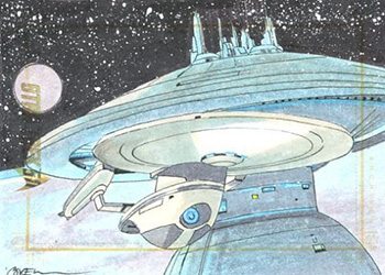 Roy Cover Sketch - USS Enterprise NCC-1701-B and Spacedock