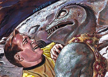 Norman Faustino Sketch - Kirk and Gorn