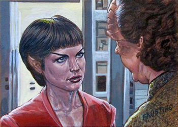 Norman Faustino Sketch - T'Pol and Dr. Phlox