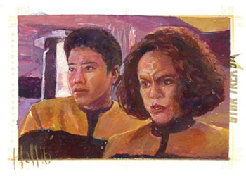 Charles Hall Sketch - Harry Kim and B'Elanna Torres