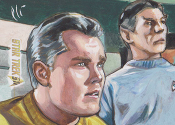 Lee Lightfoot Sketch - Christopher Pike and Spock