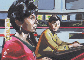 Lee Lightfoot Sketch - Uhura and Sulu