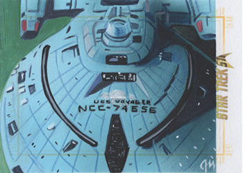 Jeff Mallinson Sketch - USS Voyager NCC-74656