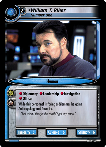 •William T. Riker, Number One