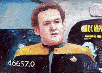 Charles Hall Sketch - Miles O'Brien