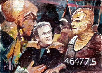 Charles Hall Sketch - Quark, Miles O'Brien and Tosk