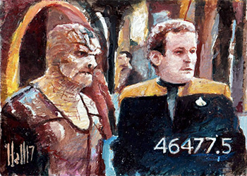 Charles Hall Sketch - Tosk and Miles O'Brien