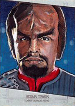 Michael James Sketch - Worf