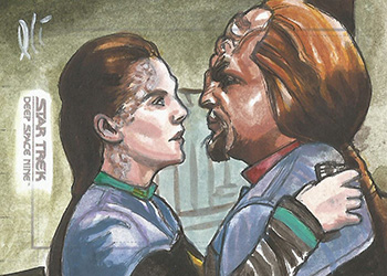 Lee Lightfoot Sketch - Jadzia Dax and Worf
