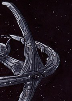 Rich Molinelli Sketch - Deep Space Nine Station