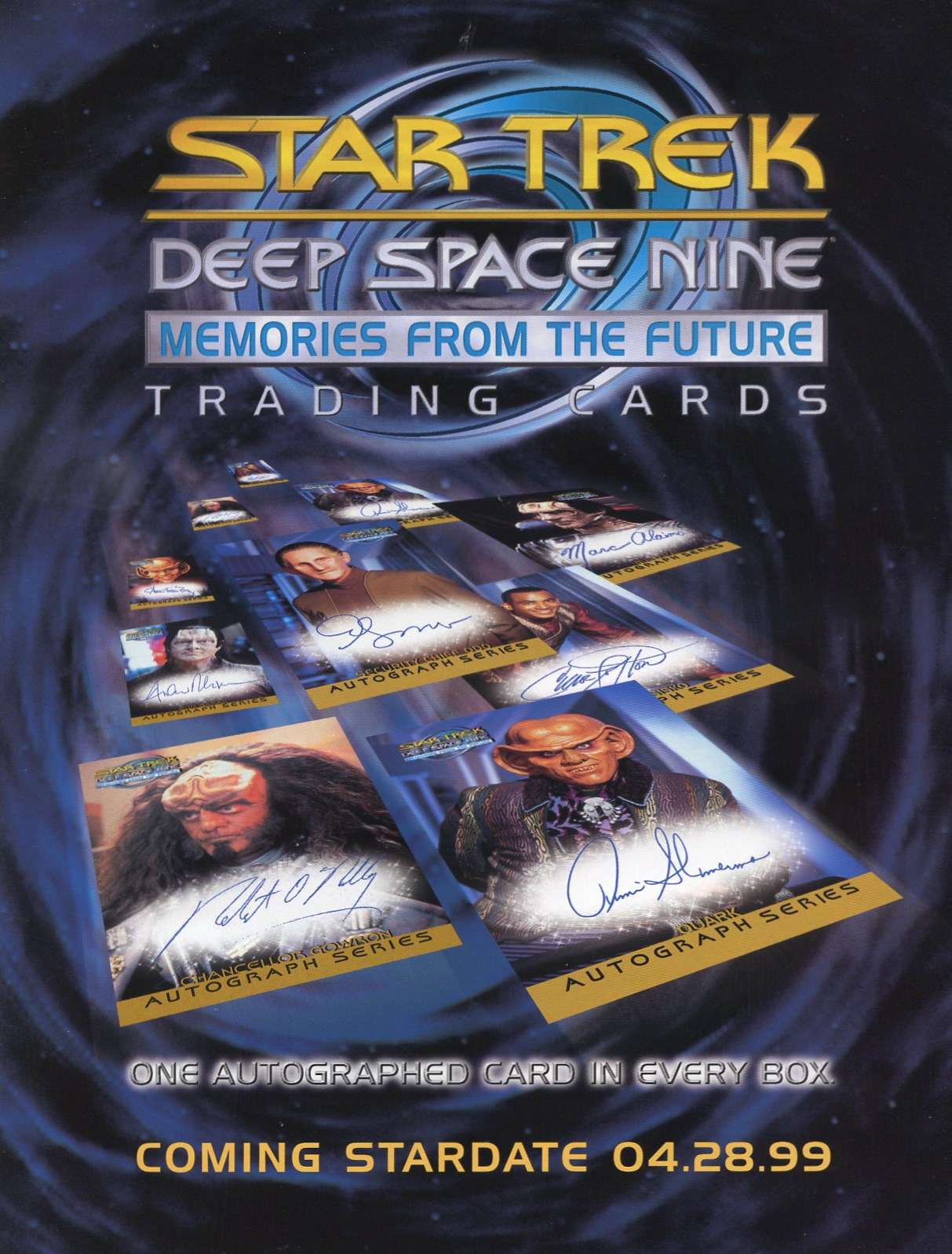 DS9 Memories from the Future Sell Sheet Front