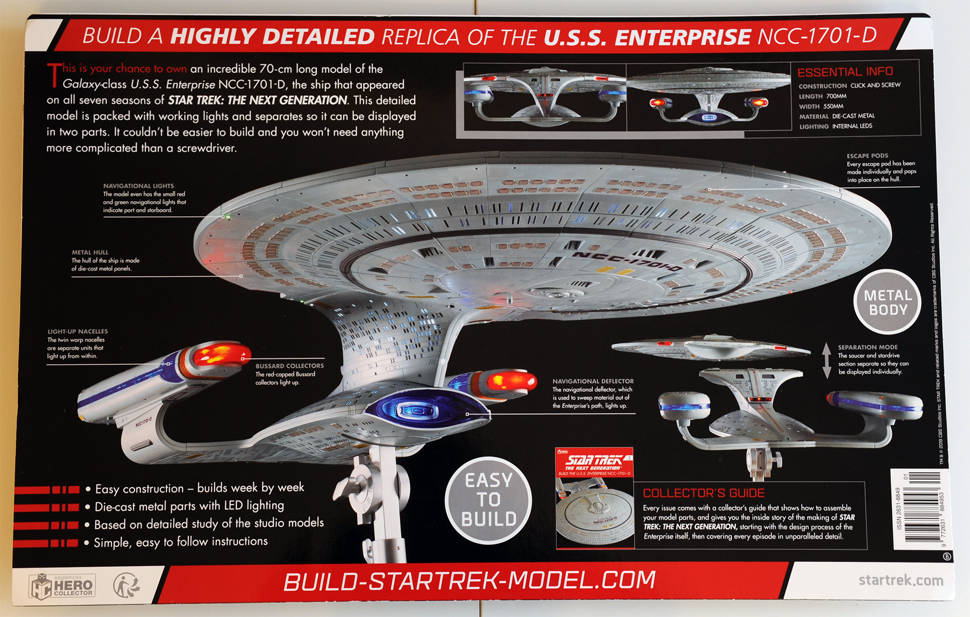 Star Trek Enterprise NCC-1701-D with Collectible Magazine #1 by Eaglemoss
