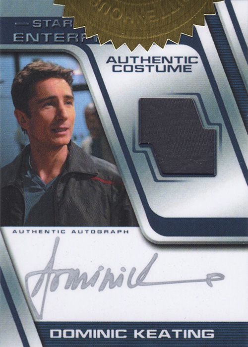 Enterprise H&V Dominic Keating Autograph Costume Card