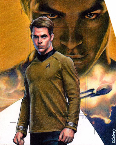 Carlos Cabaleiro AR Sketch - James T. Kirk