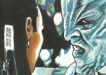 Lee Lightfoot Sketch - Uhura and Krall