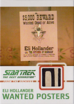 C12 Hollander Wanted Poster Relic Card E