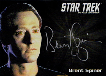 Silver Autograph - Brent Spiner
