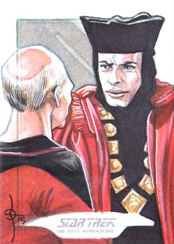 León Braojos Sketch - Q and Jean-Luc Picard