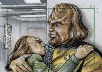 Adam & Bekah Cleveland Sketch - Worf and Alexander