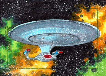 Roy Cover Sketch - USS Enterprise NCC 1701-D