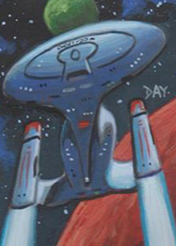David Day Sketch - USS Enterprise NCC 1701-D