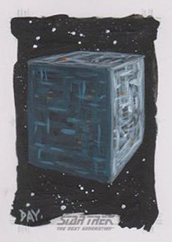 David Day Sketch - Borg Cube