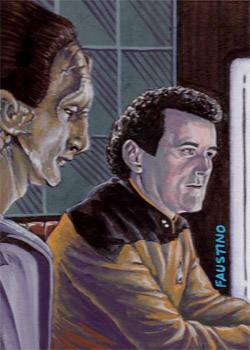 Norman Faustino Sketch - Daro and Miles O'Brien