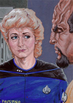 Norman Faustino Sketch - Dr. Pulaski and Worf