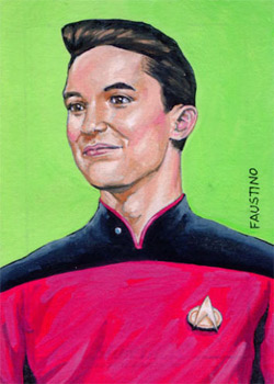 Norman Faustino Sketch - Wesley Crusher