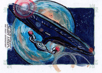 Daniel Gorman Sketch - USS Enterprise NCC 1701-D