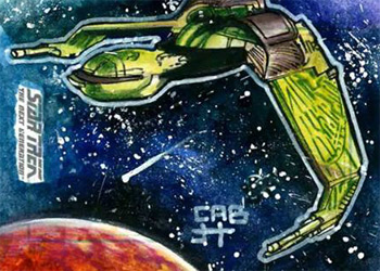 James Hiralez Sketch - Klingon Bird of Prey