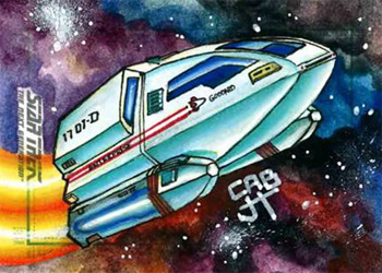 James Hiralez Sketch - Shuttlecraft Goddard