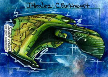 James Hiralez Sketch - Romulan Warbird