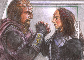 Debbie Jackson Sketch - Worf and K'Ehleyr