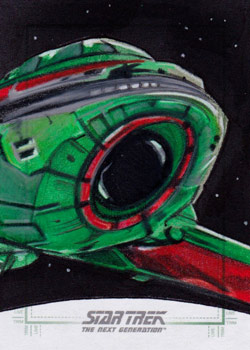 Michael James Sketch - Klingon Bird of Prey