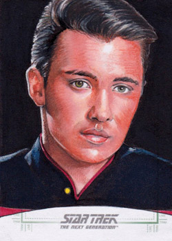 Michael James Sketch - Wesley Crusher