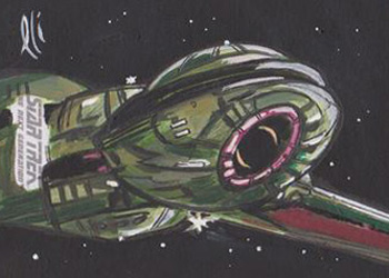 Lee Lightfoot Sketch - Klingon Bird of Prey