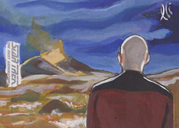 Lee Lightfoot Sketch - Picard Overlooking Primeval Earth