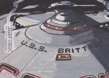 Lee Lightfoot Sketch - USS Brittain