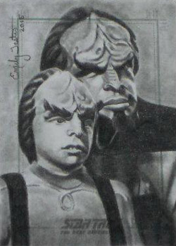 Emily Tester Sketch - Worf and Alexander