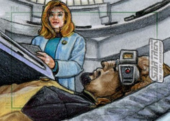 Adam & Bekah Cleveland Sketch - Beverly Crusher and Worf