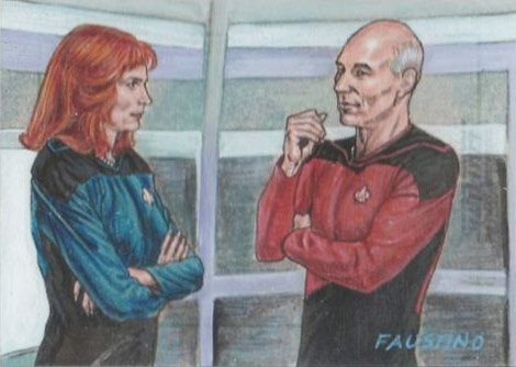 Norman Faustino Sketch - Beverly Crusher and Jean-Luc Picard