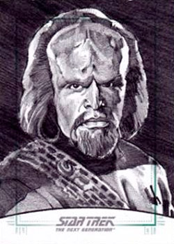 Michael James Sketch - Worf #1
