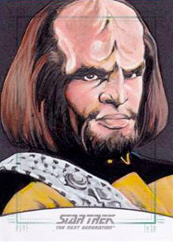 Michael James Sketch - Worf #2