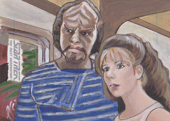 Lee Lightfoot Sketch - Worf and Deanna Troi