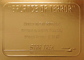 Gold Card G9 - Balance of Terror