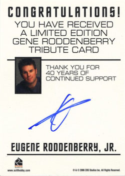 Gene Roddenbery Tribute Card