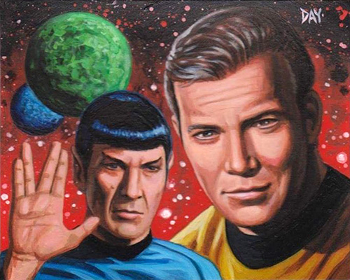 David Day AR Sketch - Kirk and Spock